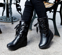 Hot-selling 2013 women's thermal winter snow boots down cloth swing hasp platform shoes platform medium-leg boots