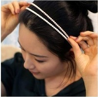 Very Beautiful simulated-pearl beaded hair bands 7mm headband Fashion hair pin hair accessory  several color 30pcs/lot Y001