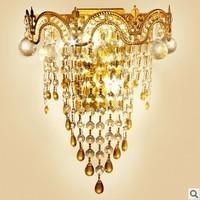 high quality luxurious crystal wall lightings bedroom lightings E14 ports christmas decoration lightings decorative ornements
