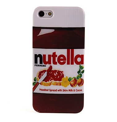 Nutella Design Smooth Hardened Plastic Phone Case for iPhone 5/5S Free Shipping(China (Mainland))