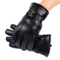 Wool and fur in one genuine leather gloves male winter thickening cold-proof motorcycle gloves wool gloves  free shipping