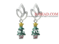 Lovely Handmade Jewelry 2013 Christmas Design Fashion Style Christmas Tree Shape Stud Earrings