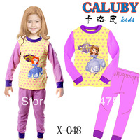 Free Shipping,baby long sleeve Pyjamas Boys Girls Kids Sleepwear set Children's Pyjamas Baby sleepwear Baby wear 6set/lot X-048