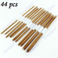 New 44 pcs 11 Sizes Double Pointed Carbonized Bamboo Crochet Knitting Needles
