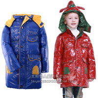100%original brand Child down coat male child down coat medium-long glossy down coat a88001  free shipping !