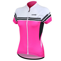 Cycling 100% Ployester Material Short Sleeve Womens Jersey Comfortable Material