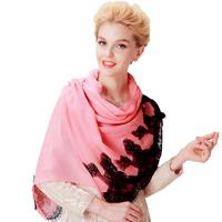 2013 eyelash lace women's wool laciness long design long scarf cape regal parent