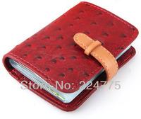 Women Fashion Credit Card Holder PU Leather Strap Bank Card Bag Business Card Case Wallet