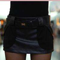 Hot 2014 new winter spring autumn,women's chiffon PU leather boots shorts female fashion shorts skirts free shipping-0286