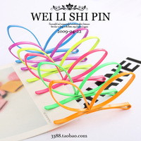 6237 neon color rabbit ears hairpin side-knotted clip bb clip small accessories hair accessory hair accessory