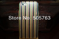 Wood Hard Case Cover Reconstituted Veneer Case  With Retail Packaging For iphone 5c 2 IN 1 Colors Case 50PCS by DHL