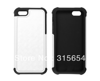 3 in 1 DIY Sublimation Blank Phone Case Silicone+plastic+metal inserts for iPhone 5,100pcs/lot