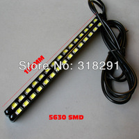 2013 new type can bend Slim  DRL 2 pcs/lot 5630 chip 15 smd High-power- Bright Car Auto Tail Backup Reverse day running light