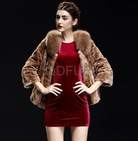 2013 Autumn and Winter Women's Genuine Spliced Mink Fur Jacket Female Fashion Short Outwear QD29688