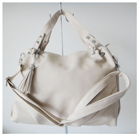 A98(ivory) wholesale popular bag,purses,2014 fashion ladys handbag,43x23cm,PU,6 different colors,two function,Free shipping!