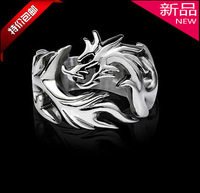 Pinky ring male small finger ring the opening of pure silver fashion titanium finger ring personality