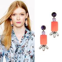 (mix order) Free Shipping & Fashion accessories square elegant stud earring  TN-7.99