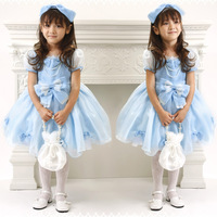 2013 baby girl blue princess dress,infant girl dress ,4 pcs/lot