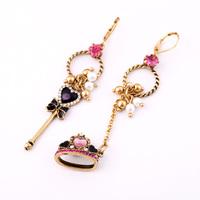 (mix order) Free Shipping & Fashion earrings accessories magic wand asymmetrical earrings female  TN-7.99