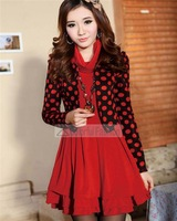 Dotted Women Long Sleeve Dresses