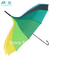 16K rainbow umbrella dual personality long-handled umbrella sun protection umbrella