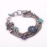 (mix order) Free Shipping & fashion bracelet flower vintage Women  TN-9.99