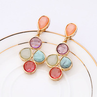(mix order) Free Shipping & Fashion accessories candy color sweet women's stud earring  TN-7.99