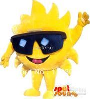 New Arrival customized sun Sunflower Mascot Costume Halloween Fursuit Fancy Dress Free Shipping