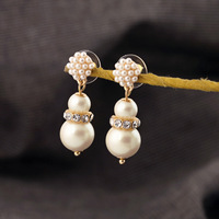 (mix order) Free Shipping & Fashion accessories simulated-pearl Hemsleya all-match earrings  TN-6.99