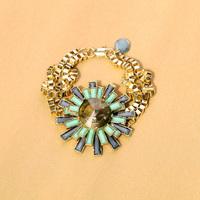 (mix order) Free Shipping & Fashion accessories gem inlaying flower bracelet female  TN-13.99