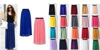 Fashion style Skirt New Women  Sexy Chiffon Long Skirt   High Quality  21 colours Nice design Hot selling
