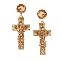 Min. order is $9 (can mix style) New arrivel corss  earrings  EH524
