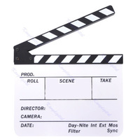 Acrylic Clapperboard Director TV Film Movie Cut Action Scene Clapper Board Slate