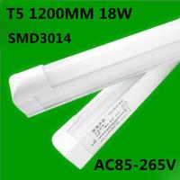 2013 Free shipping 100pcs t5 led tube 1200mm 18W 4ft t5 led tube1400-1600lm 85-265V led fluorescent tube high quality wholesale