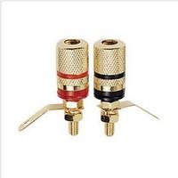 Speaker ternminal banana audio terminal banana jack copper wire column a pair of