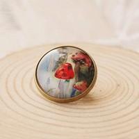 Min Order $15(Can Mix Item)Lovely Fashion Jewelry Charm imitation gem Mushroom Brooch Pin