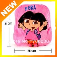 New Pink Dora the Explorer Plush Backpack Child PRE School Bag Toddler Size Kids School Bag Free Shipping