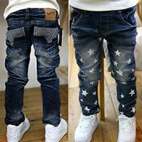 2013 new children's jeans for boys cotton denim jean children pants kids trousers middle waist trousers casual wear
