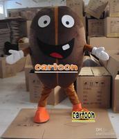 Halloween Coffee Bean Adult Size HOT SALE Brand New Mascot Costume Fancy Dress Free Shipping
