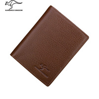 Kangaroo wallet male short design genuine leather wallet male wallet first layer of cowhide leather wallet