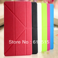 Slim Smart Cover Case for Ipadmini stand holder Case Sleep/Wake up For iPad Mini 30pcs