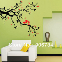 High Quality Art Mural Home Decor Removable Vinyl Wall Sticker Decal Love Heart Tree Bird Design