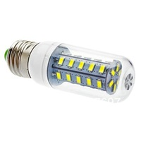 E27 7W 36x5630SMD 650LM 2500-3500K Warm White Light LED Corn Bulb (220-240V)
