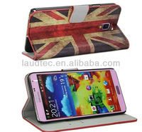 Luxury UK Flag pattern PU wallet Leather Case cover  with stand for Samsung galaxy note 3 accessaries China Free Shipping