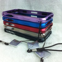 iMatch Metal Aluminum Chrome Bumper Frame Case Cover for iPhone 4 4S with Screen Protective Film High Quality