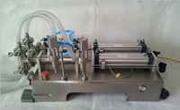 Free Shipping liquid or paste filling machine, pneumatic, semi-automatic filler, stainless steel,double heads