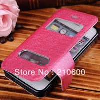 High Quality leather case for  iPhone 4 4S,Free shipping