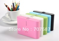 5 color With retail packaging 2 usb port 20000mah External charger portable power bank Battery for mobile phone