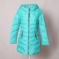 2013but medium-long slim solid color zipper down coat r134637