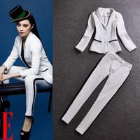 2013 autumn women's ol suit jacket trousers set